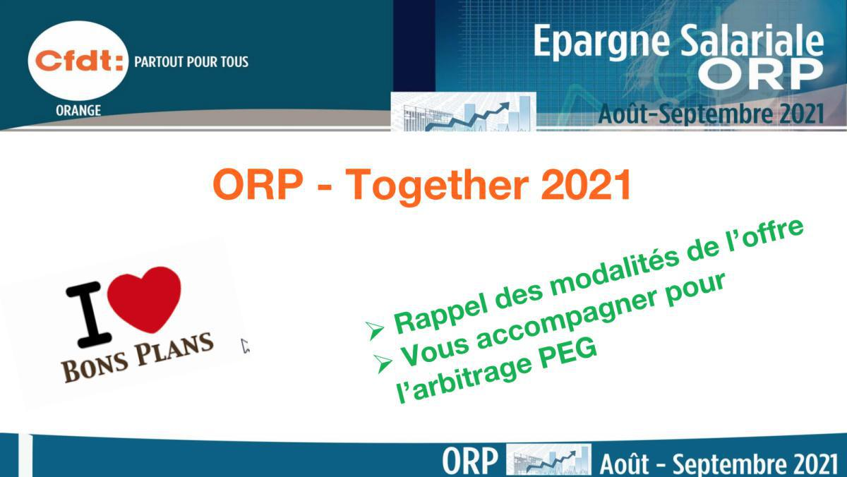 #ORP - Together 2021 - Modalités de l'offre