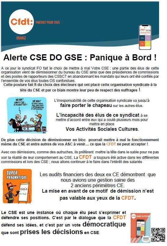 Alerte CSE : Panique à bord !?!