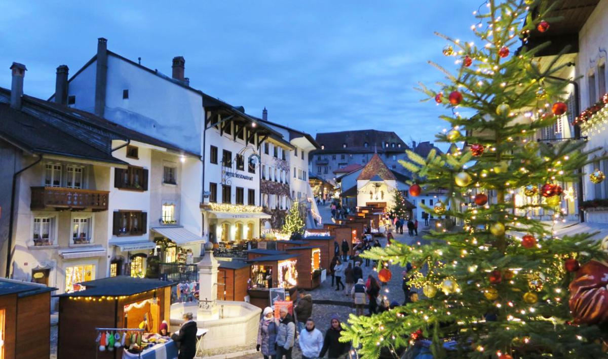 Weihnachtsmarkt in Gruyères