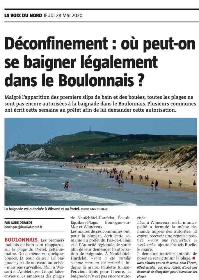 Déconfinement : où peut-on se baigner légalement dans le Boulonnais?