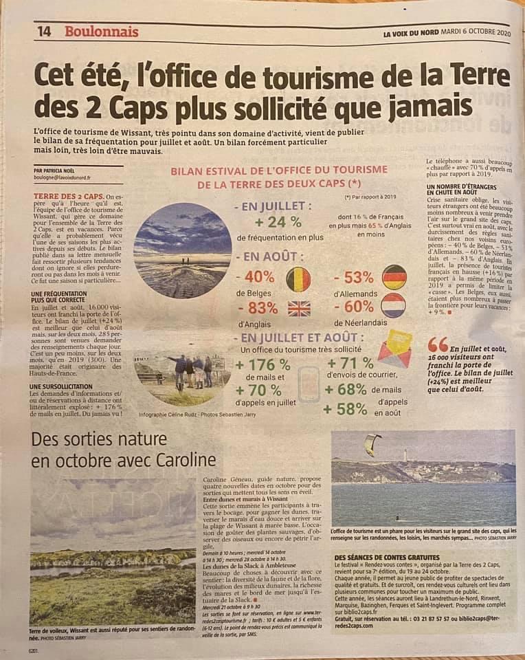 Cet été, l'office du tourisme de la Terre des 2 caps plus sollicité que jamais