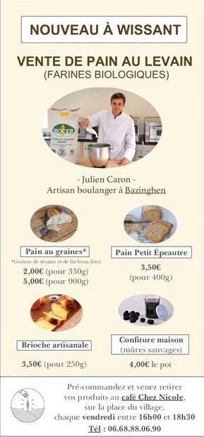 Nouveau à Wissant : Levain & L'apéro Boulangerie Apéritive Artisanale