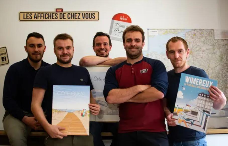 Lille : La France entière s'affiche façon vintage grâce à Wim'