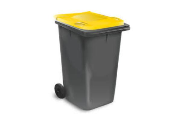 Collecte des poubelles à couvercle Jaune en Décembre