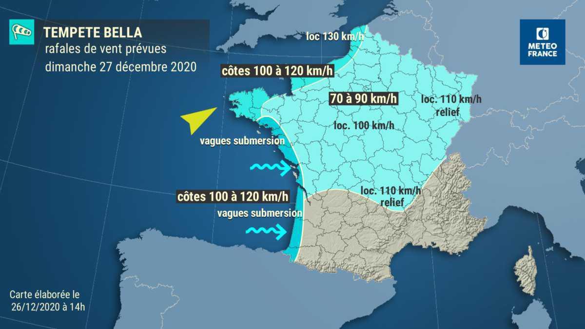 Tempête Bella : des vents à 142 km/h sur la Côte d'Opale