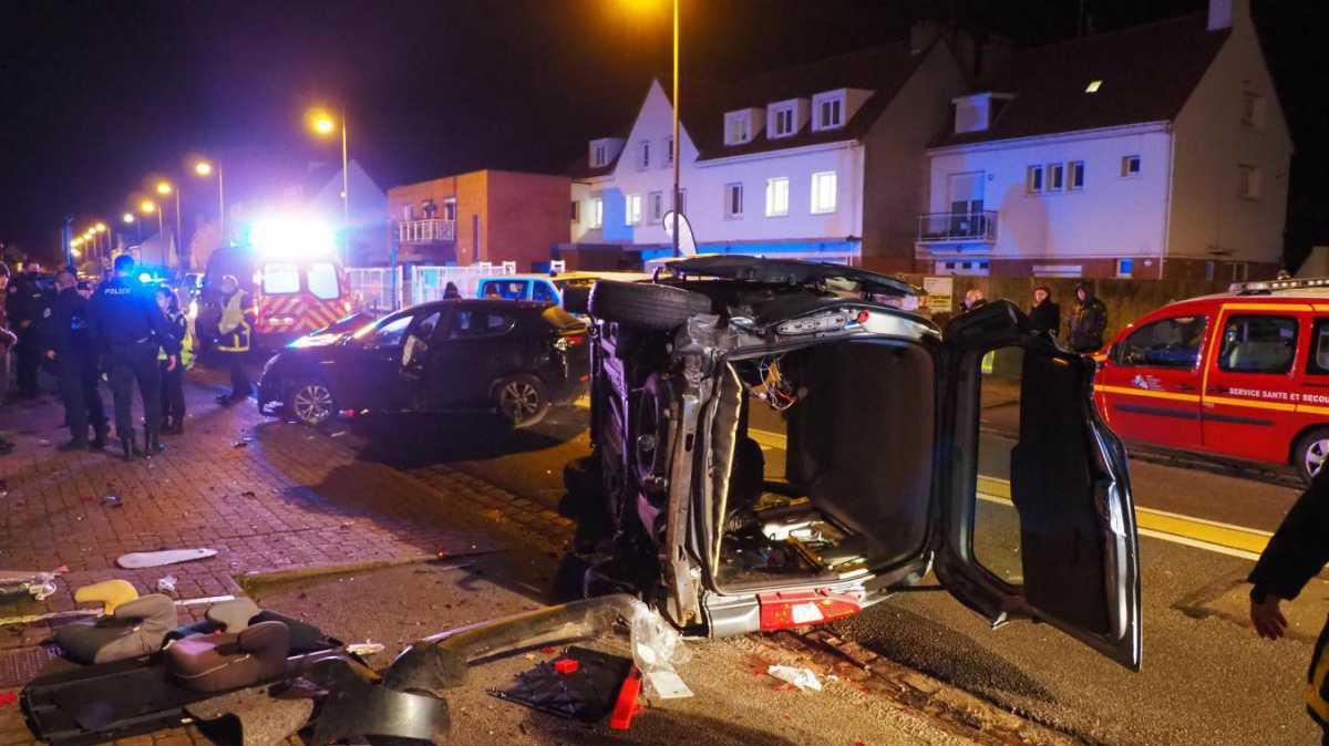 Sangatte : un conducteur sans permis percute une voiture, un pompier blessé