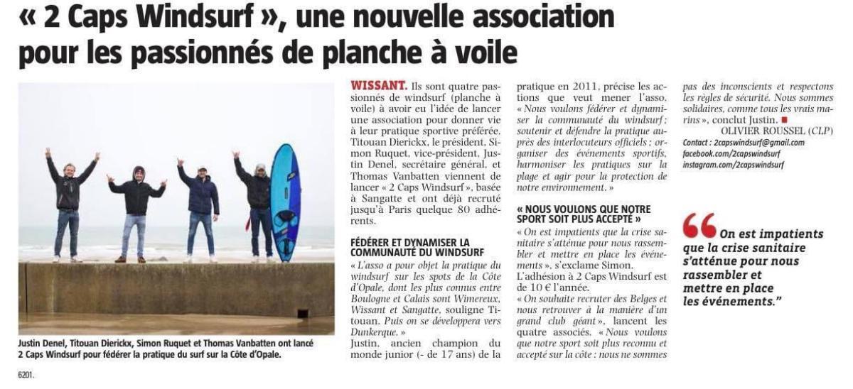 À Wissant, une nouvelle association pour les passionnés de windsurf