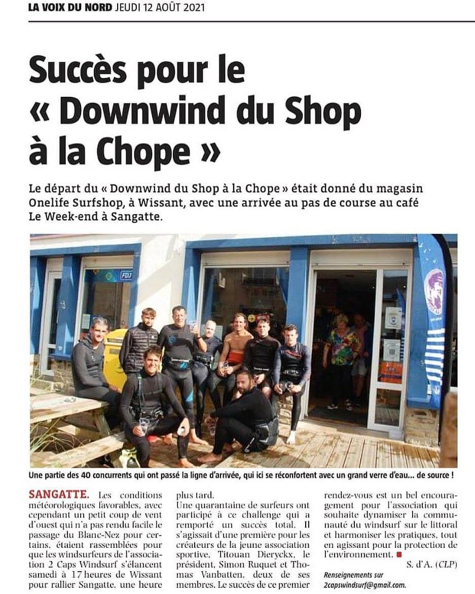 Sangatte: succès pour le «Downwind du Shop à la Chope»