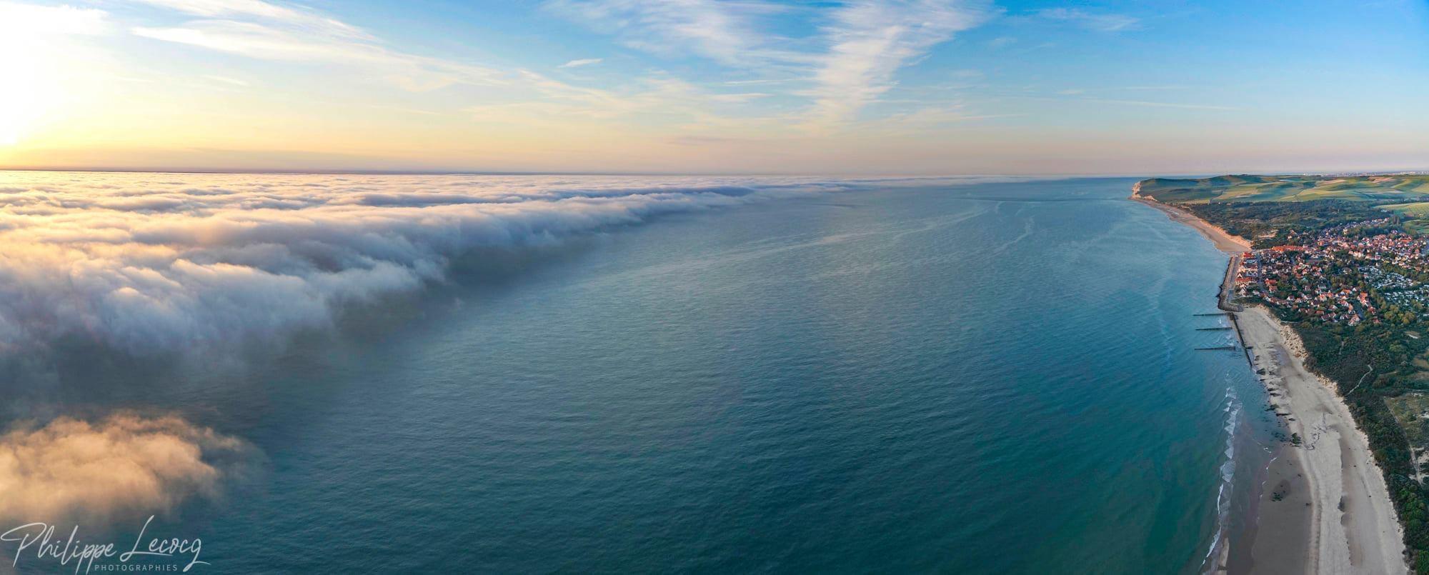 La brume s'approche de Wissant