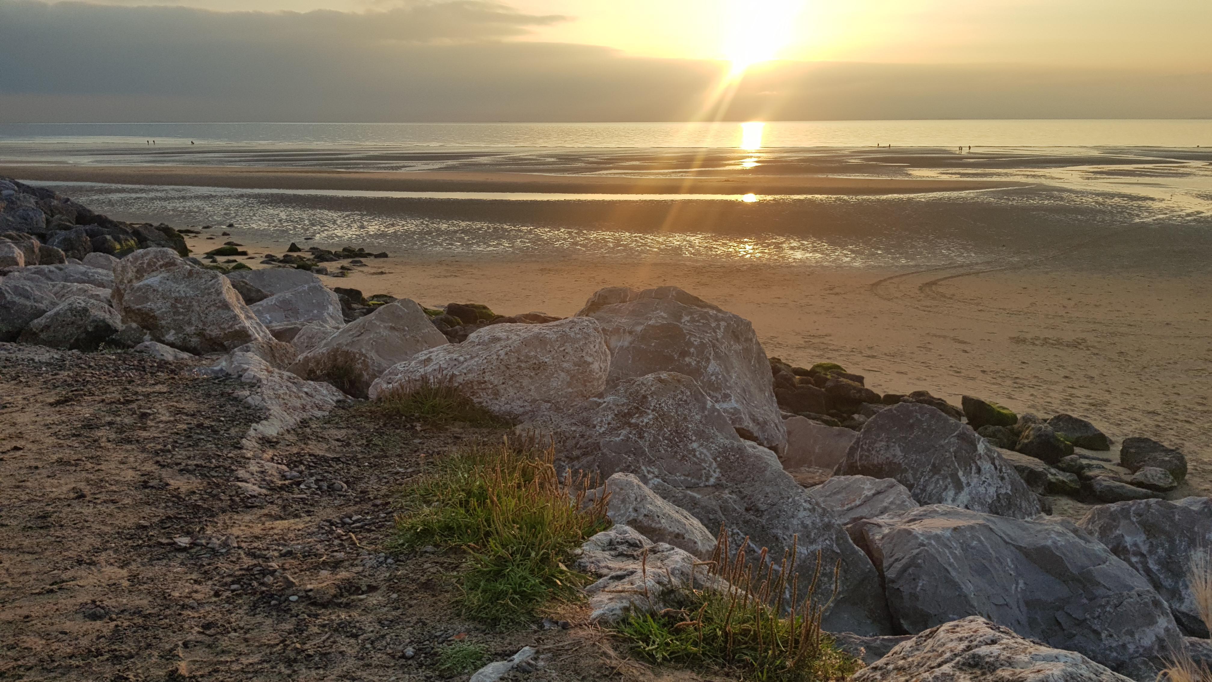Coucher de soleil Wissant plage