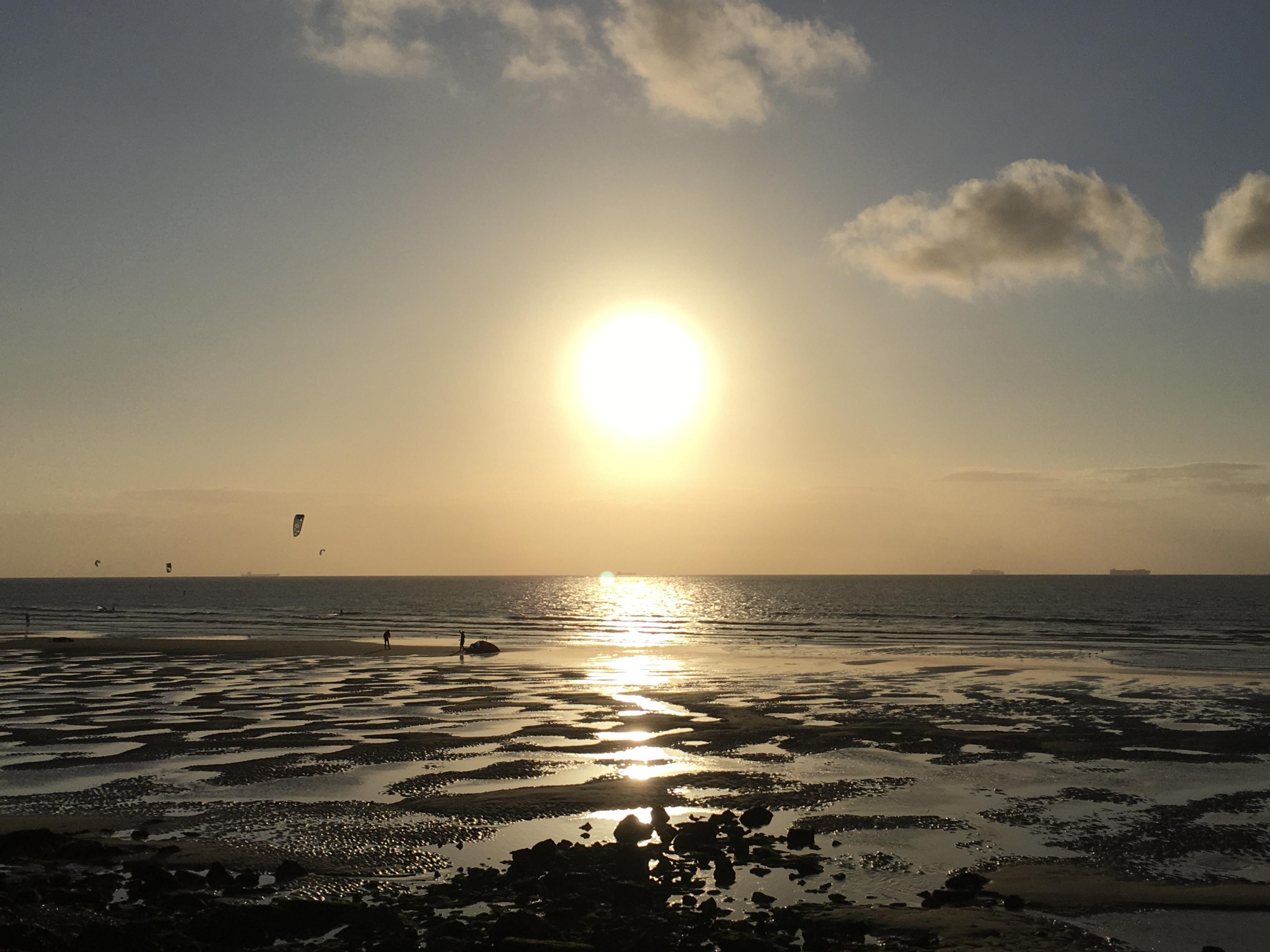 Coucher de soleil sur Wissant