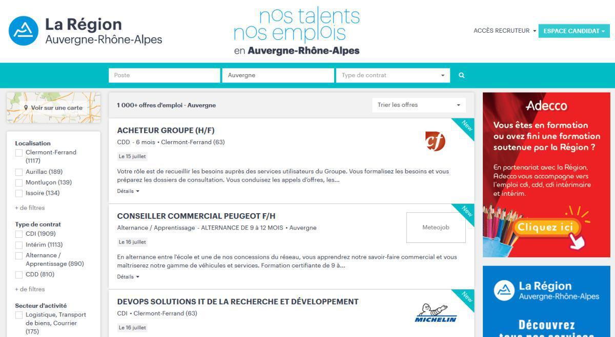 Nos emplois, nos talents