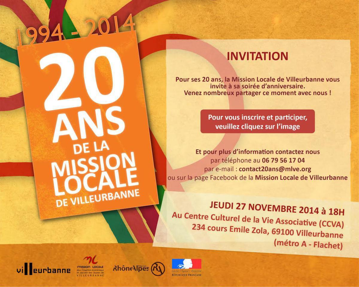 Les 20ans de la Mission Locale de Villeurbanne en vidéo