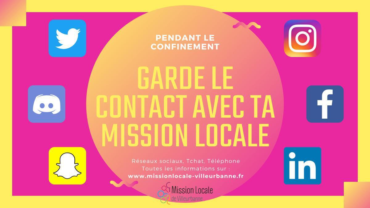 Contacter la Mission Locale de Villeurbanne