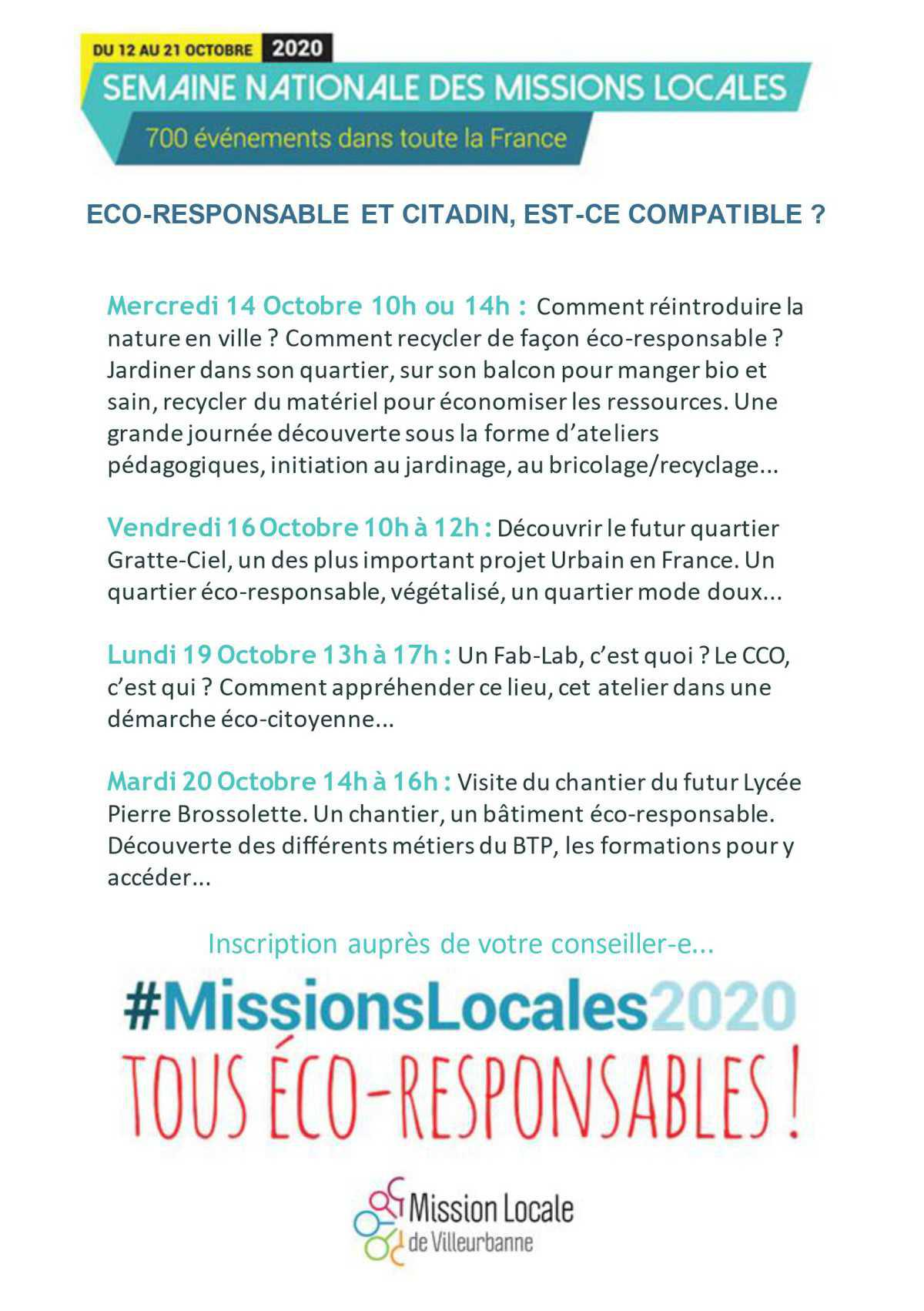 Semaine des Missions Locales - #MissionsLocales2020