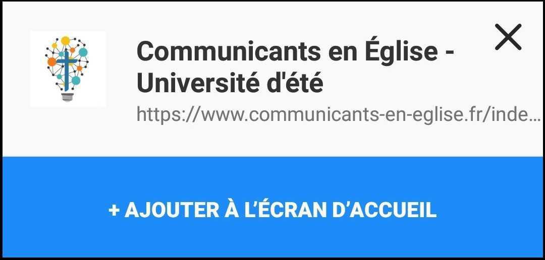 """La """"web-app"""" de l'Université d'été des communicants en Église"""