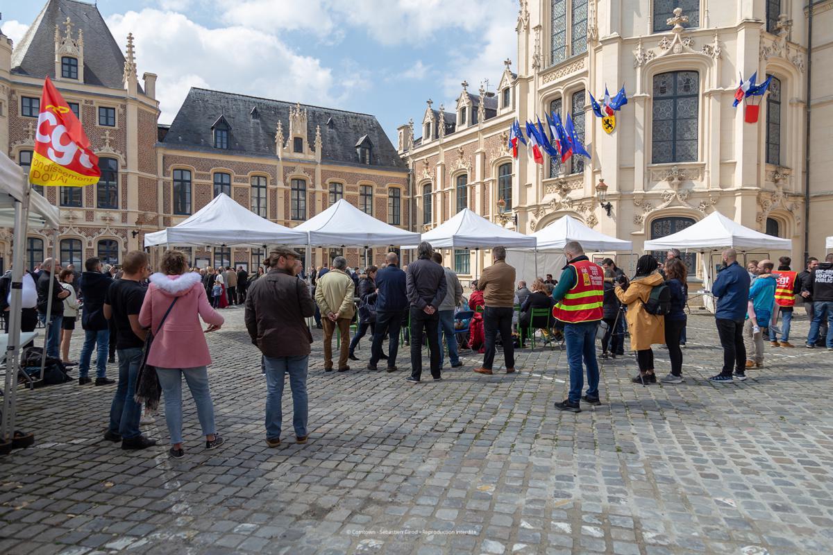 Samedi 11 mai, le FNME-CGT Tour était à Douai !