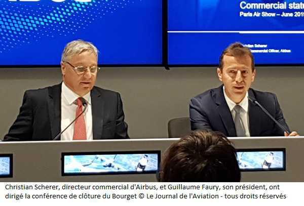 Bourget 2019 : Airbus clôture son salon avec un nouvel avion et des commandes pour 383 appareils