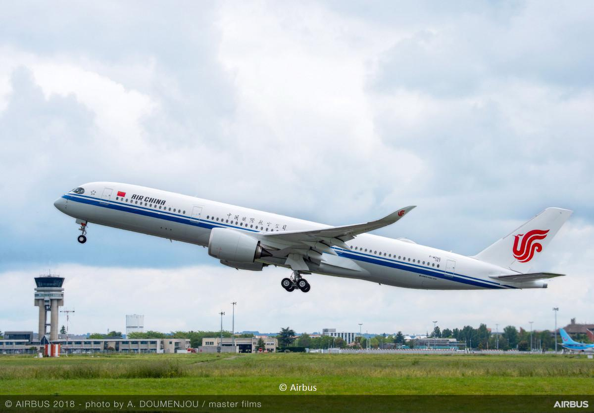 Air China commande 20 Airbus A350 supplémentaires