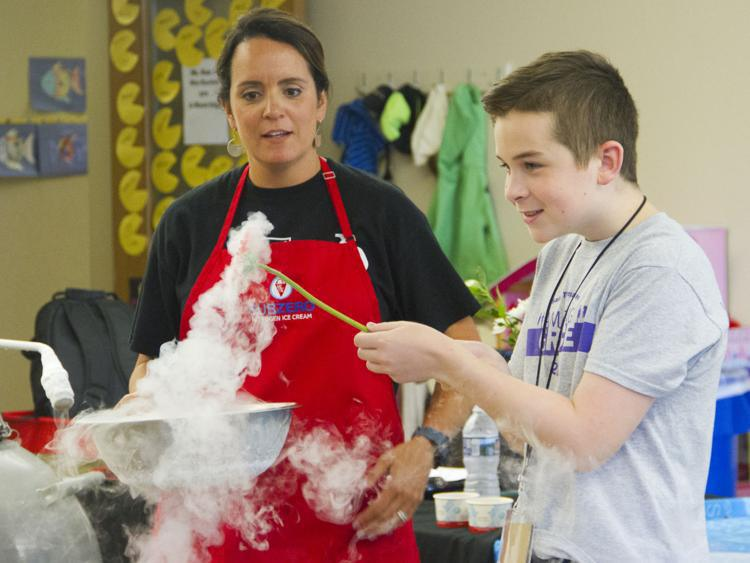SWEET SCIENCE: UPPER ST. CLAIR RESIDENTS MIX EDUCATION, ICE CREAM