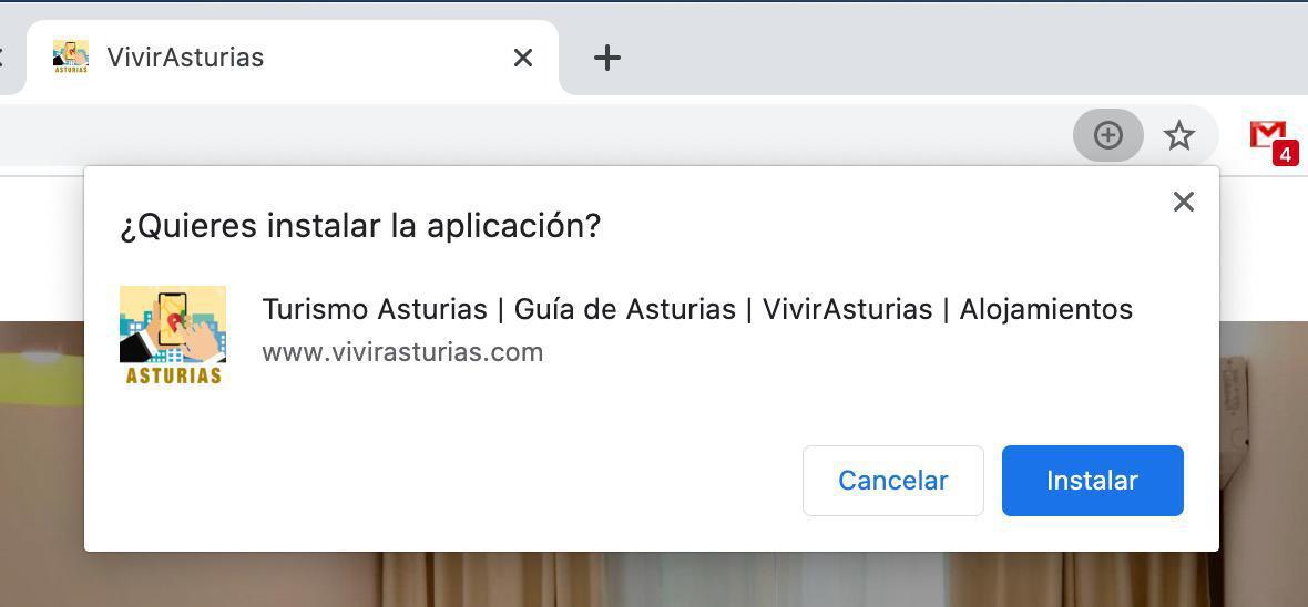 Instalación de una web app en ordenadores