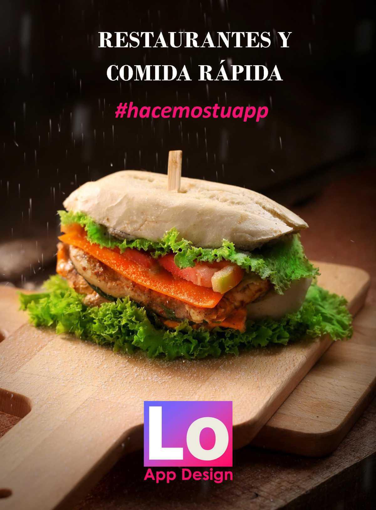 App para Restaurantes, reparto a domicilio, tiendas de alimentación