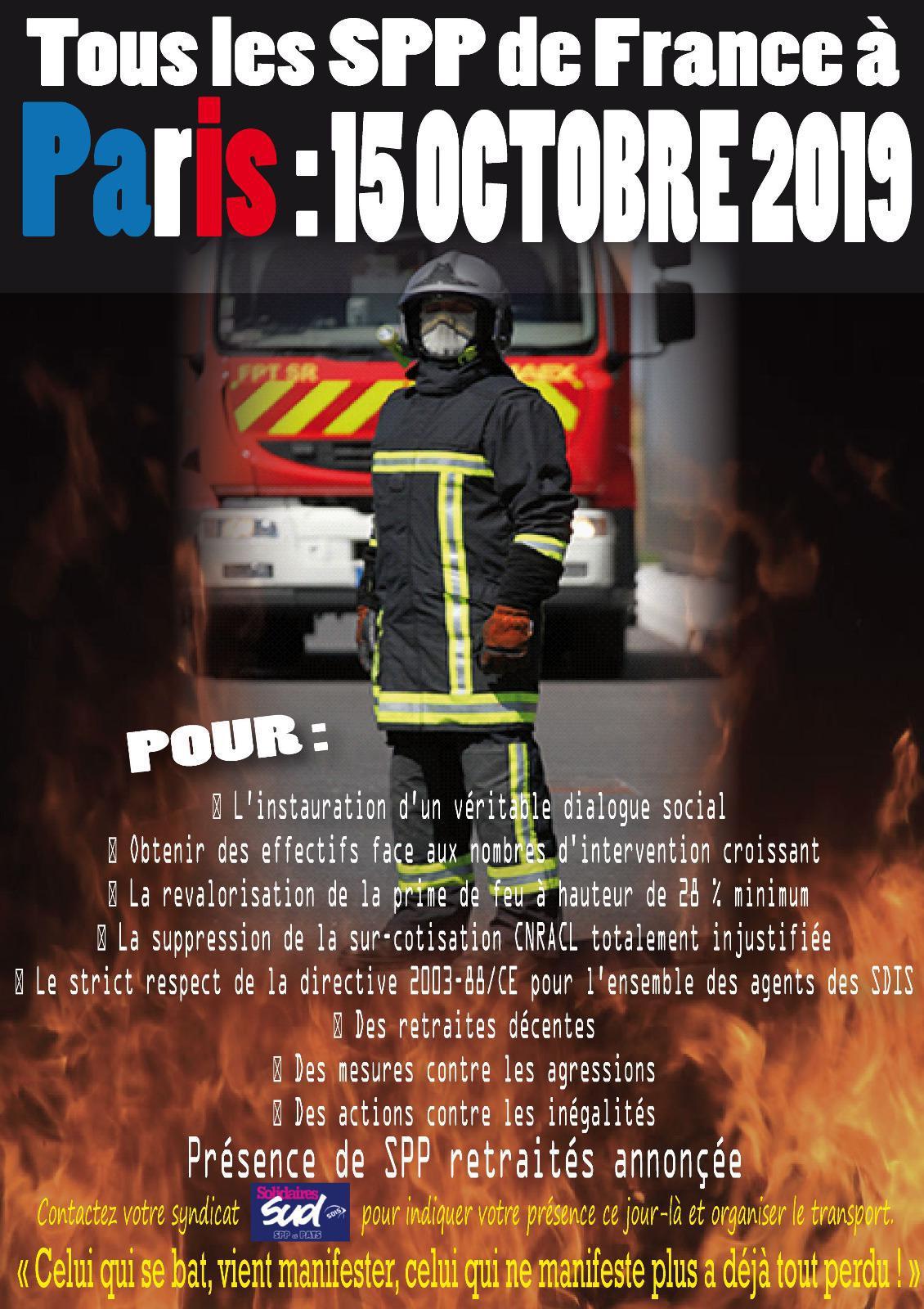 Tous les SPP À Paris le 15 Octobre 2019