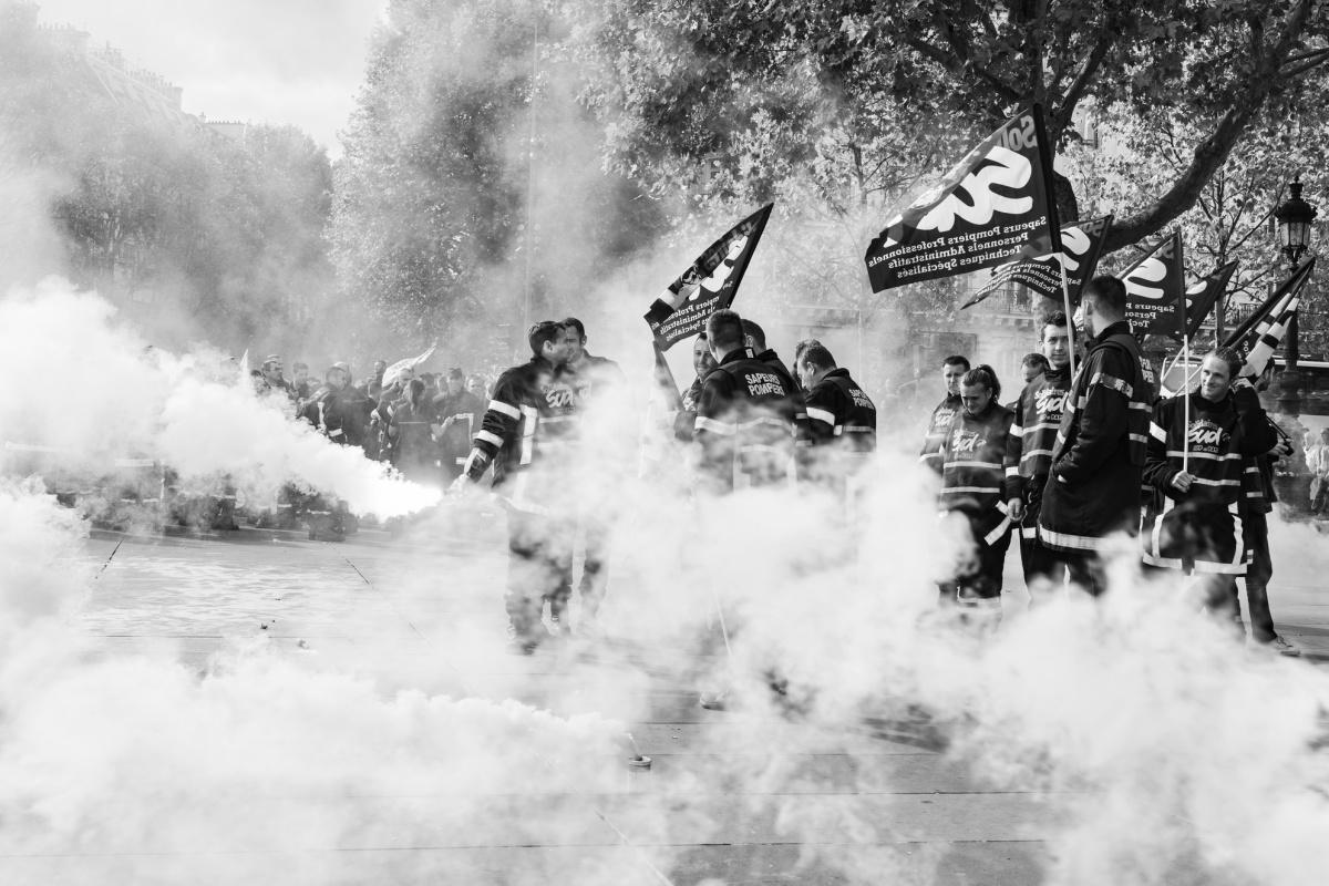 """"""" Village des soldats du feu """" à Paris"""