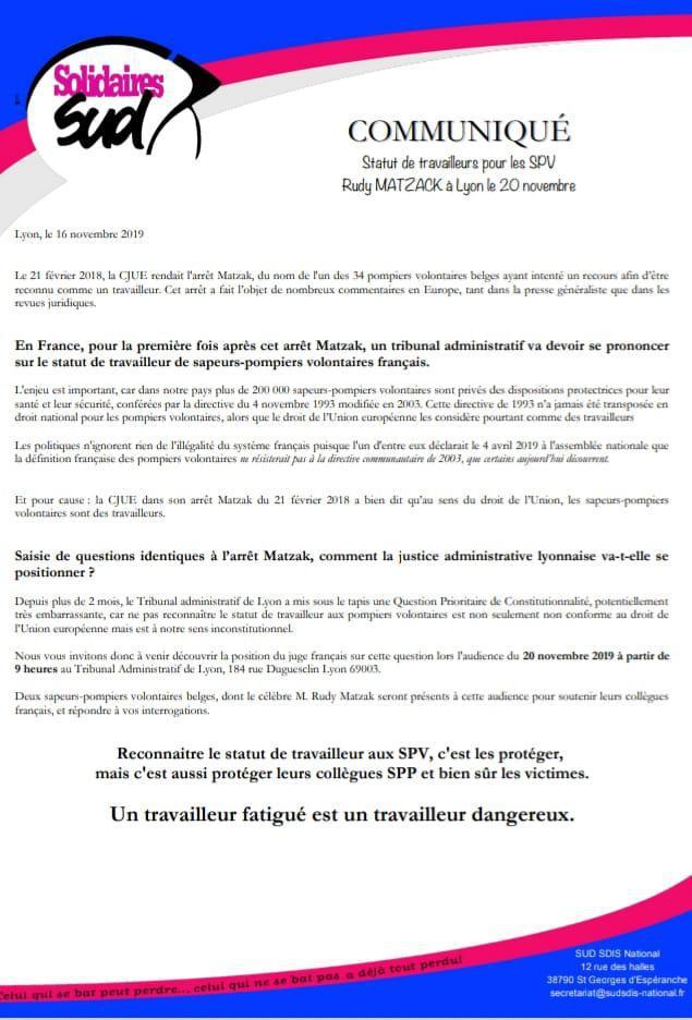 MATZAK à Lyon le 20 novembre 2019