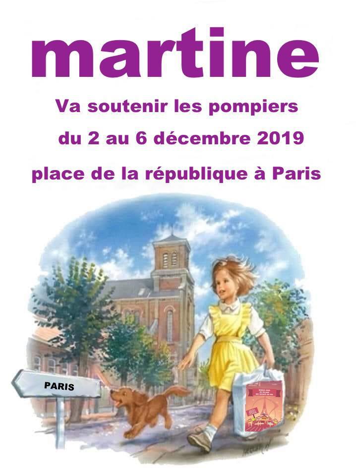 Martine va soutenir les pompiers du 2 au 6 décembre.