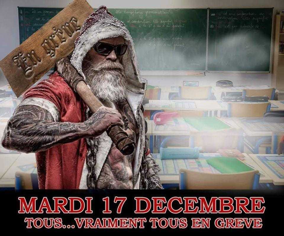 Mardi 17 décembre TOUS .... VRAIMENT TOUS EN GREVE