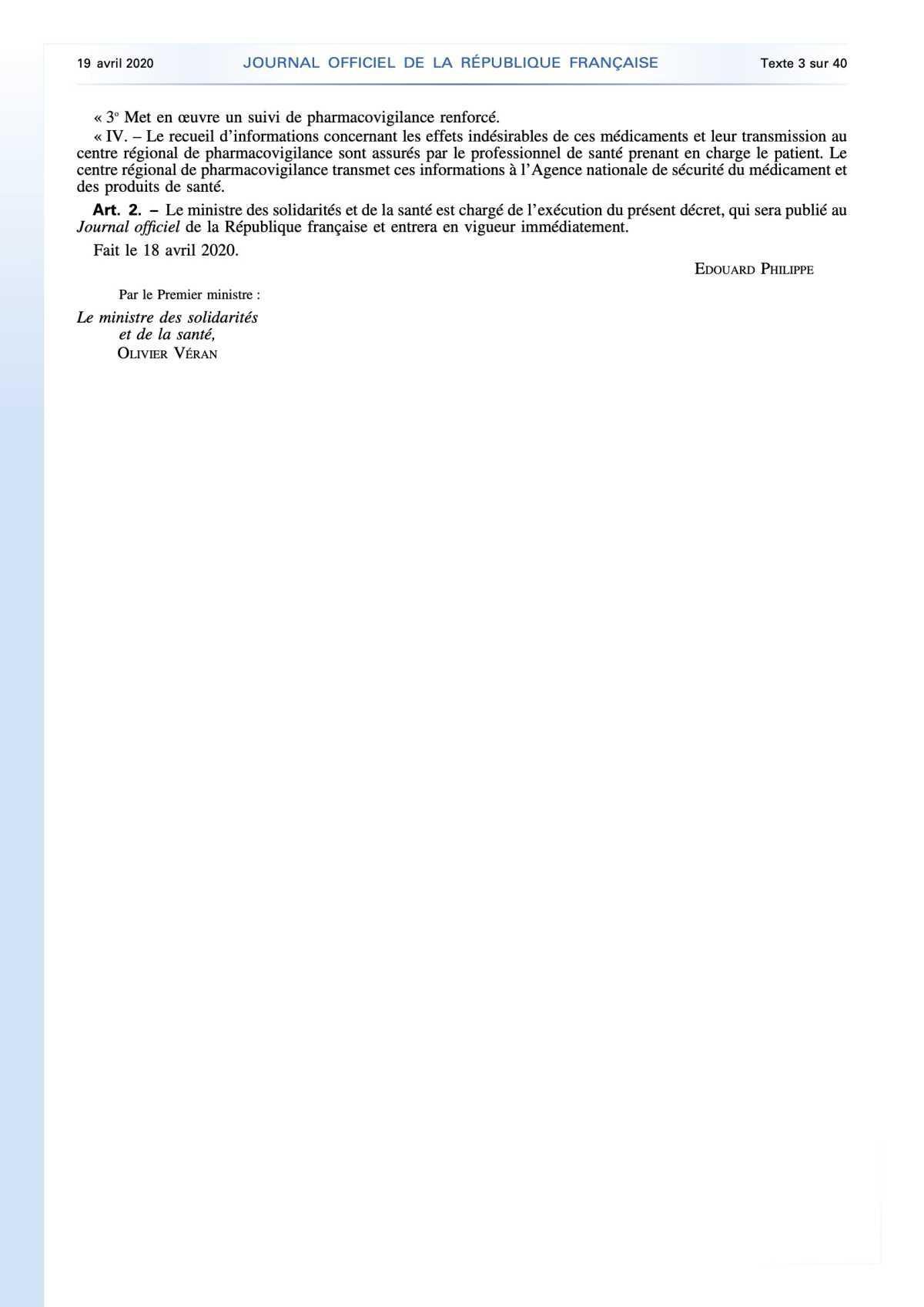 Coronavirus : approvisionnement en médicaments des SDIS et établissements de santé