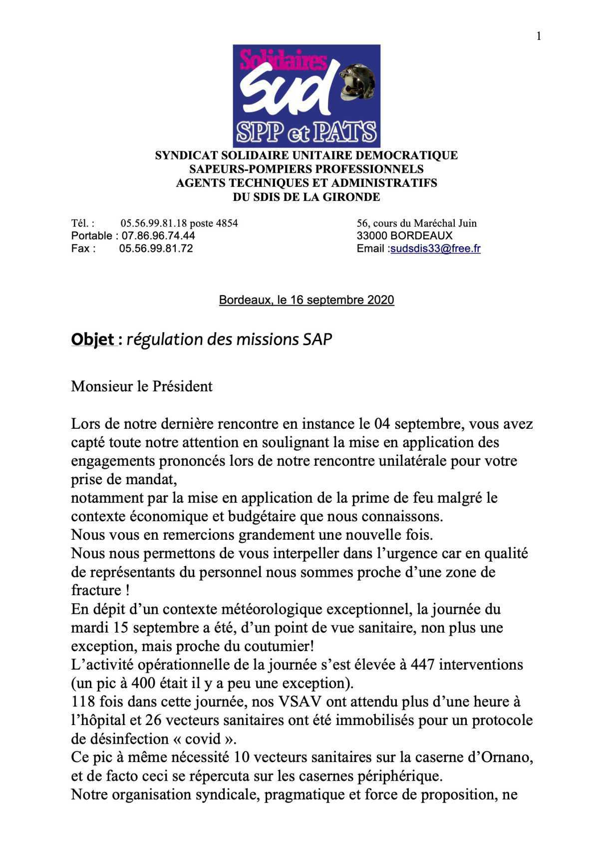 Le S.A.P EXPLOSE EN GIRONDE !