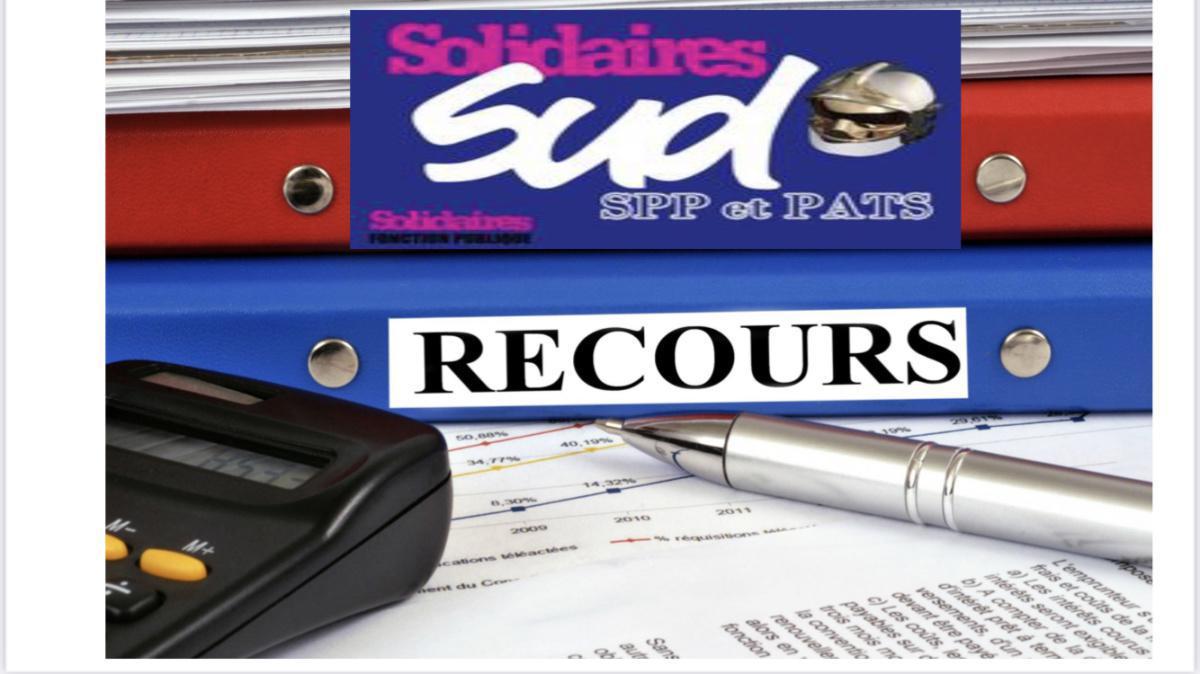 SUD SDIS 26 vient de déposer un recours gracieux