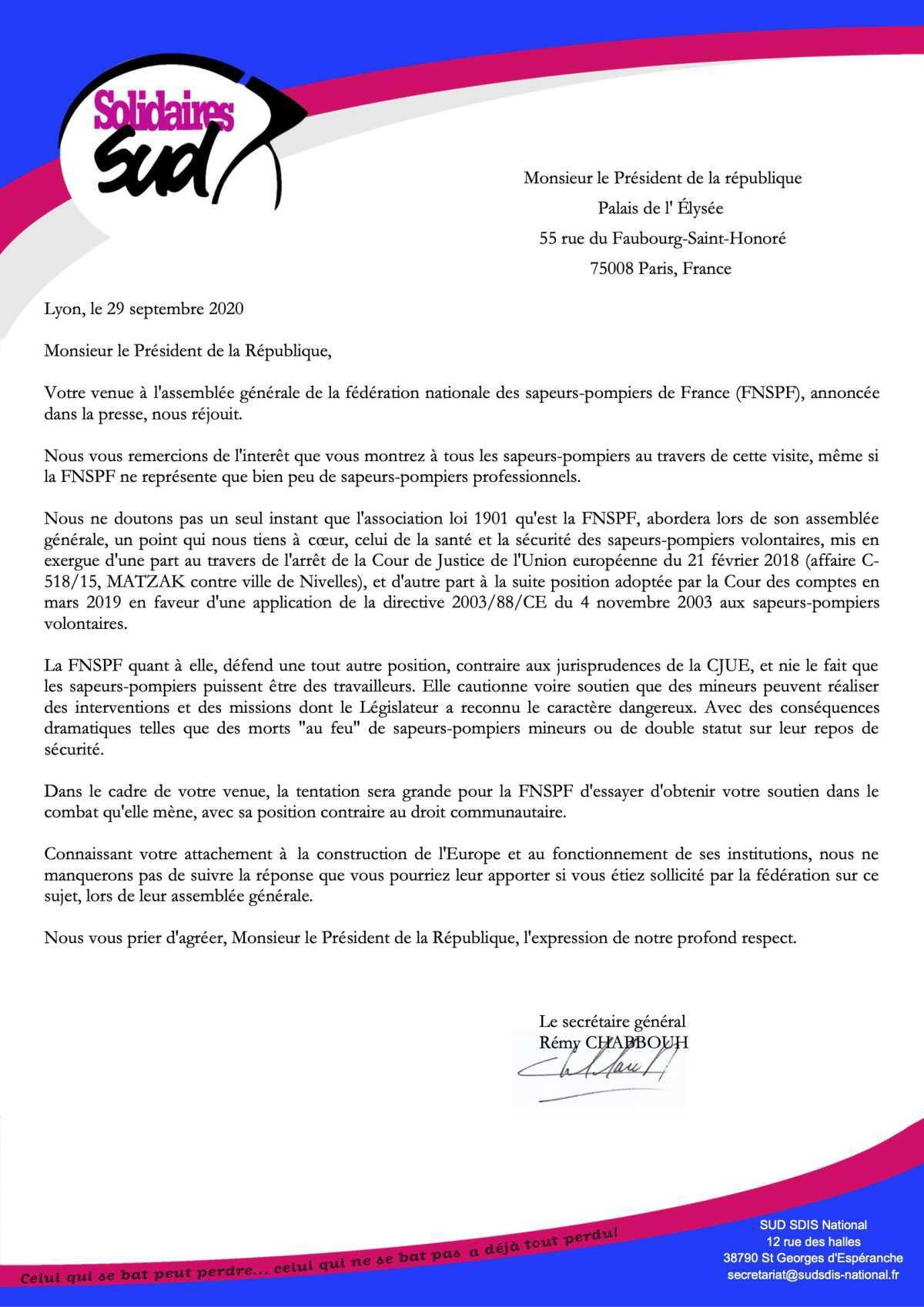L'assemblée générale de la fédération nationale des sapeurs-pompiers de France (FNSPF)