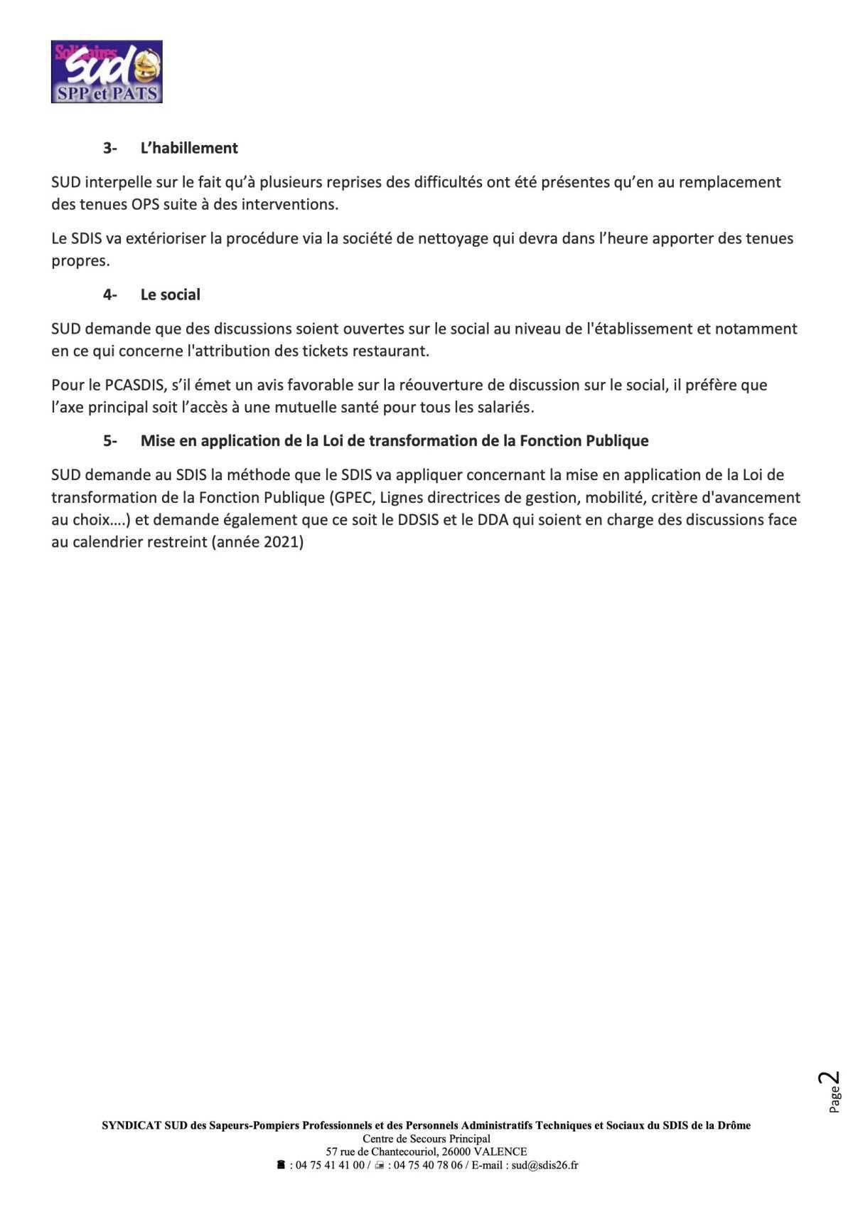 Compte rendu rencontre PCASDIS / SUD 26 du 6 octobre 2020