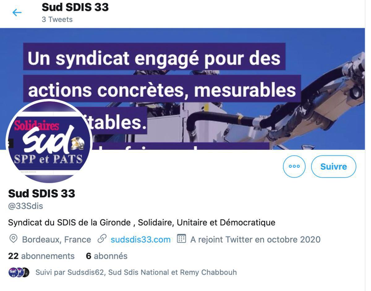 Suivre Sud Sdis 33 sur Twitter