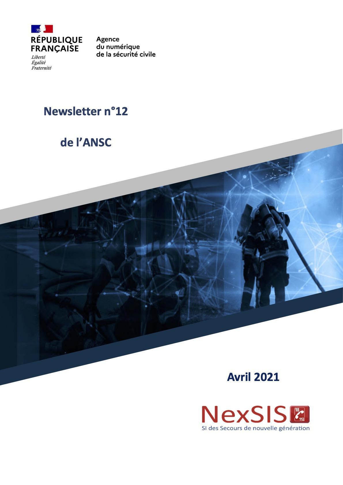 Newsletter n°12 de l'ANSC - Avril 2021