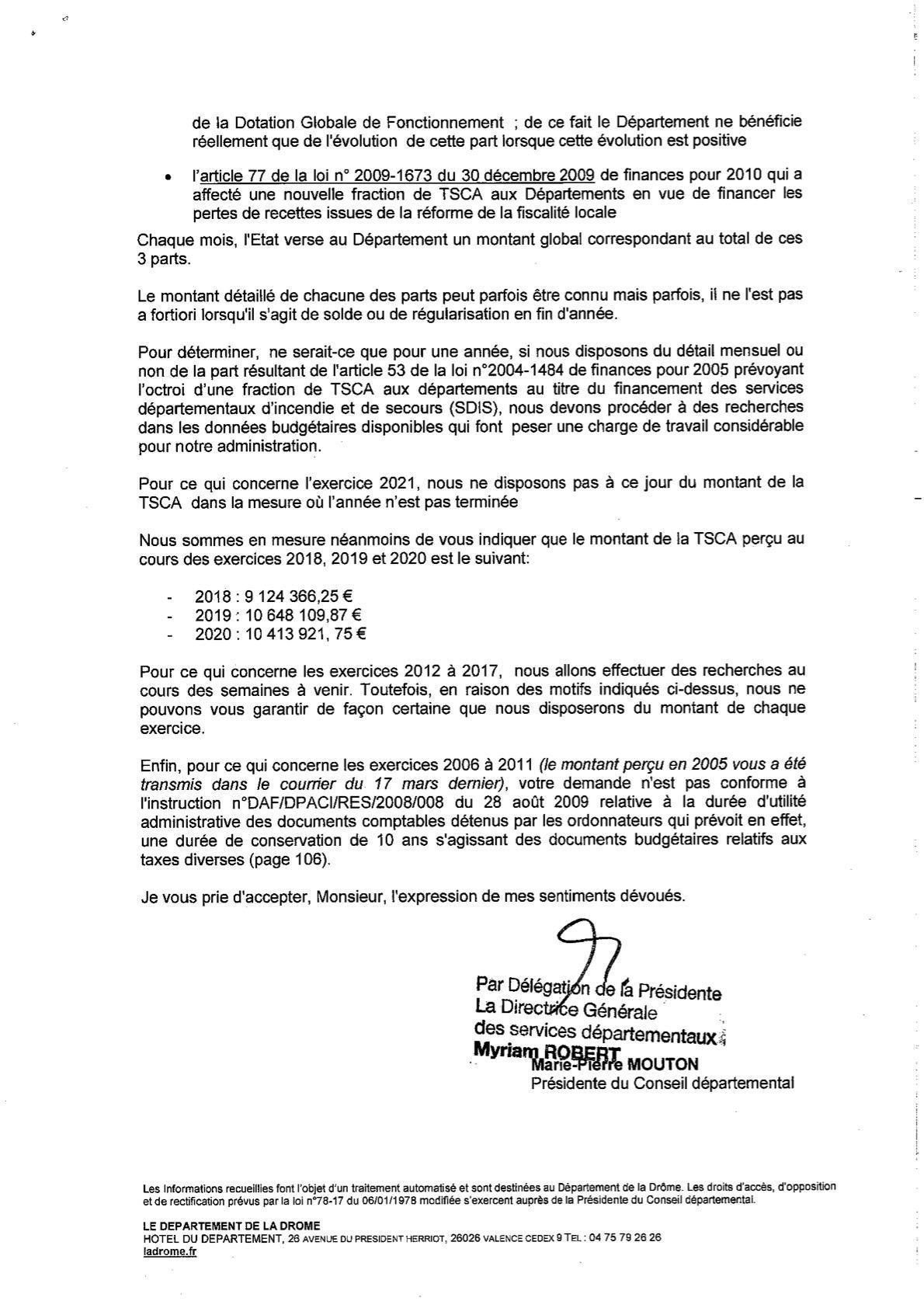 La TSCA et le Conseil Départemental de la Drôme