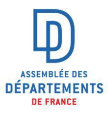 Un nouveau président pour l'Assemblée des Départements de France