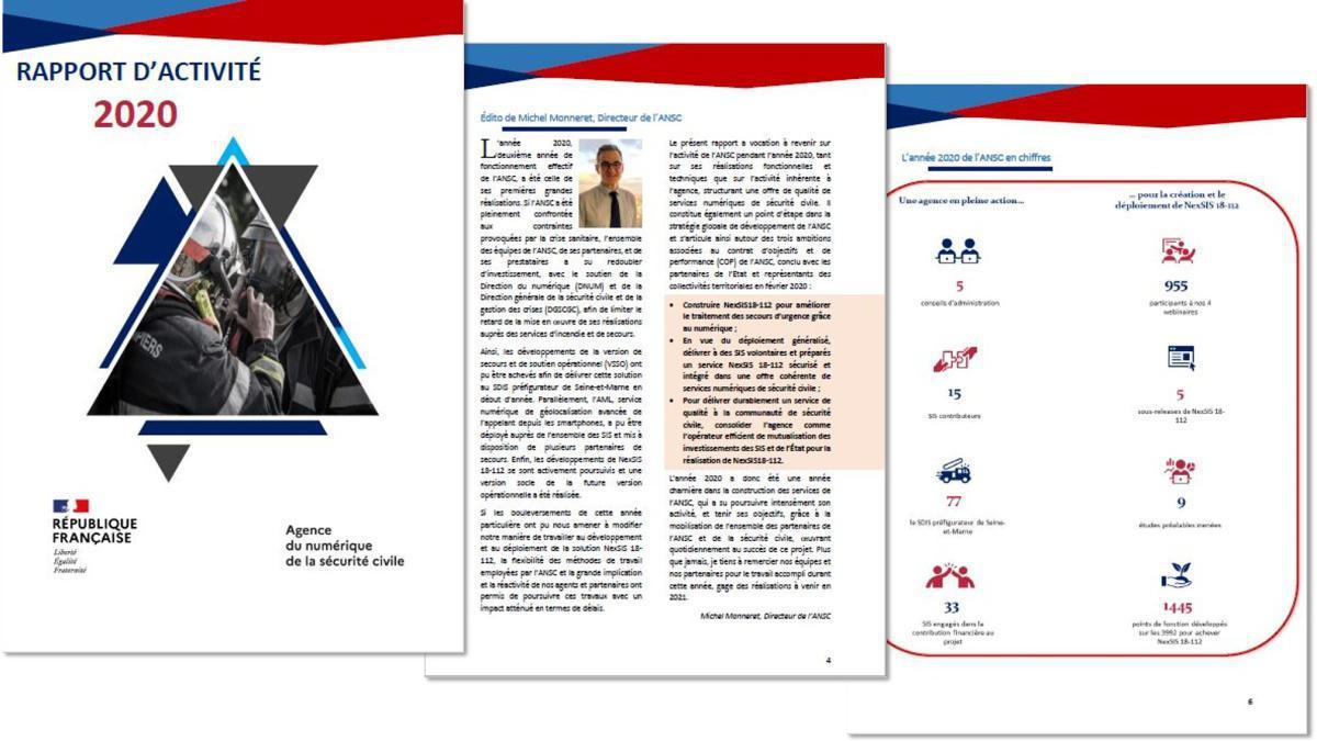 Le rapport d'activité 2020 de l'ANSC