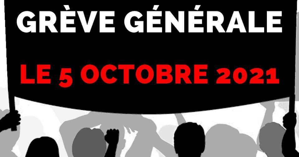 Grève Générale 5 Octobre 2021