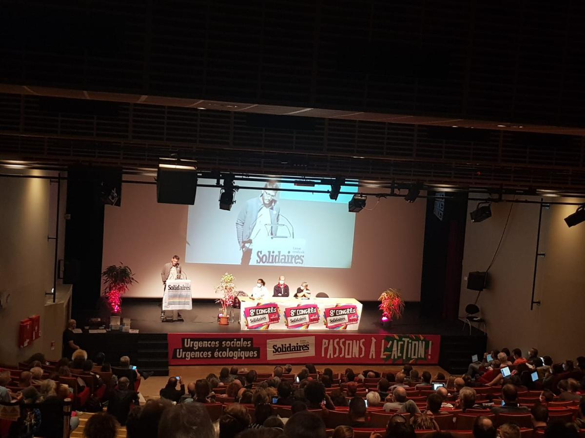 8e Congrès de l'Union syndicale Solidaires