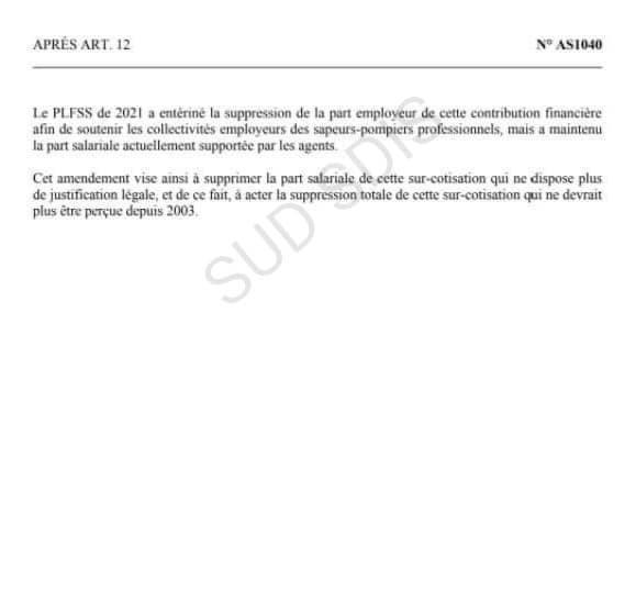 📍 Voici un amendement déposé par le député Fabien Matras visant à supprimer la surcotisation CNRACL.