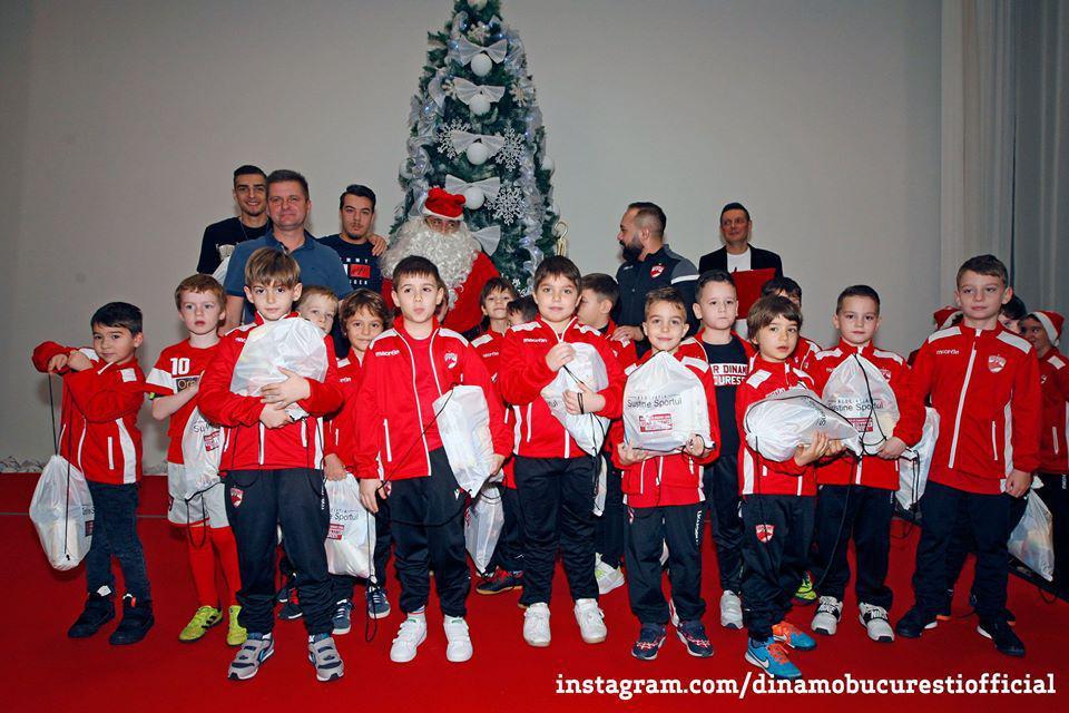 Moș Crăciun la Academia Dinamo