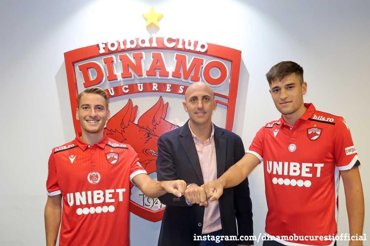 Raul Garcia Asid și Antonio Iglesias Hidalgo la Dinamo 2 București