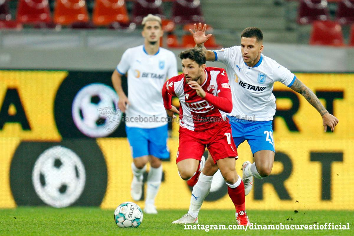 CASA Liga 1 (etapa 7). Dinamo București vs Universitatea Craiova 0-1 (0-1)