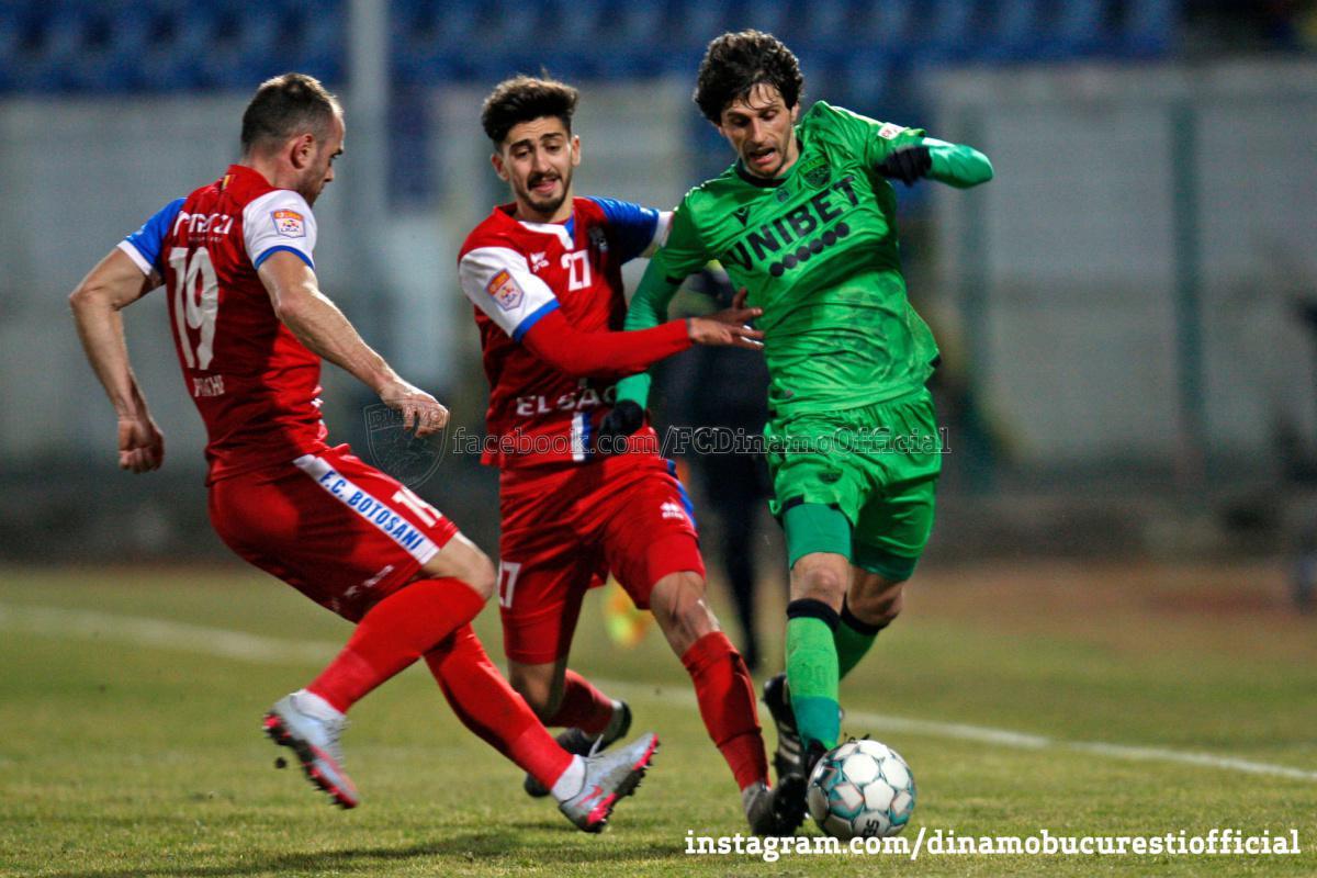 CASA Liga 1 (etapa 18). FC Botoșani vs Dinamo București 4-0 (3-0)