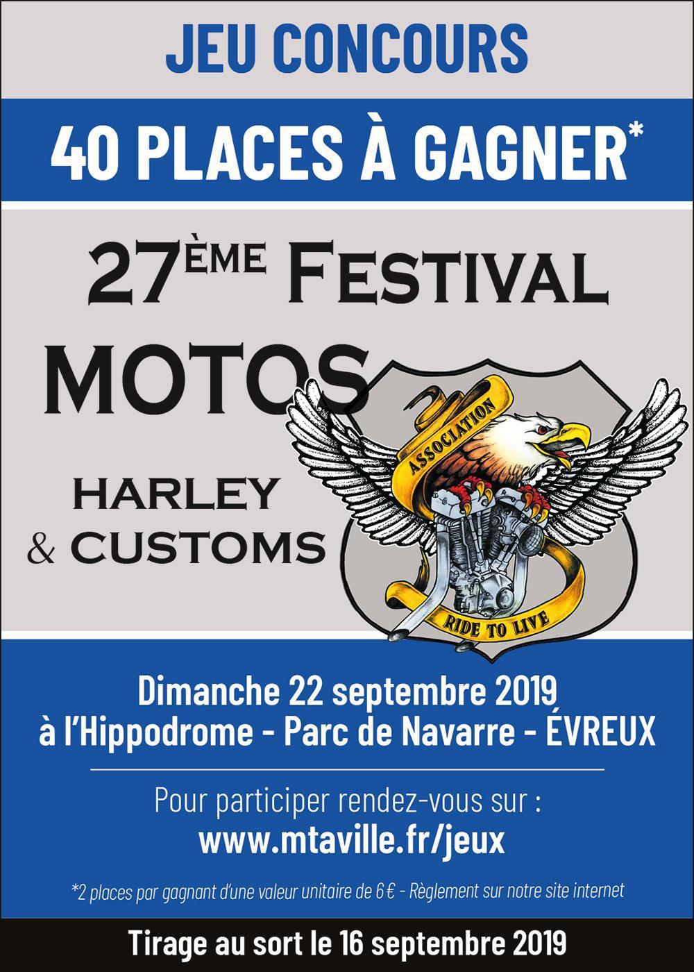 Jeu concours - 27ème Festival Ride to Live