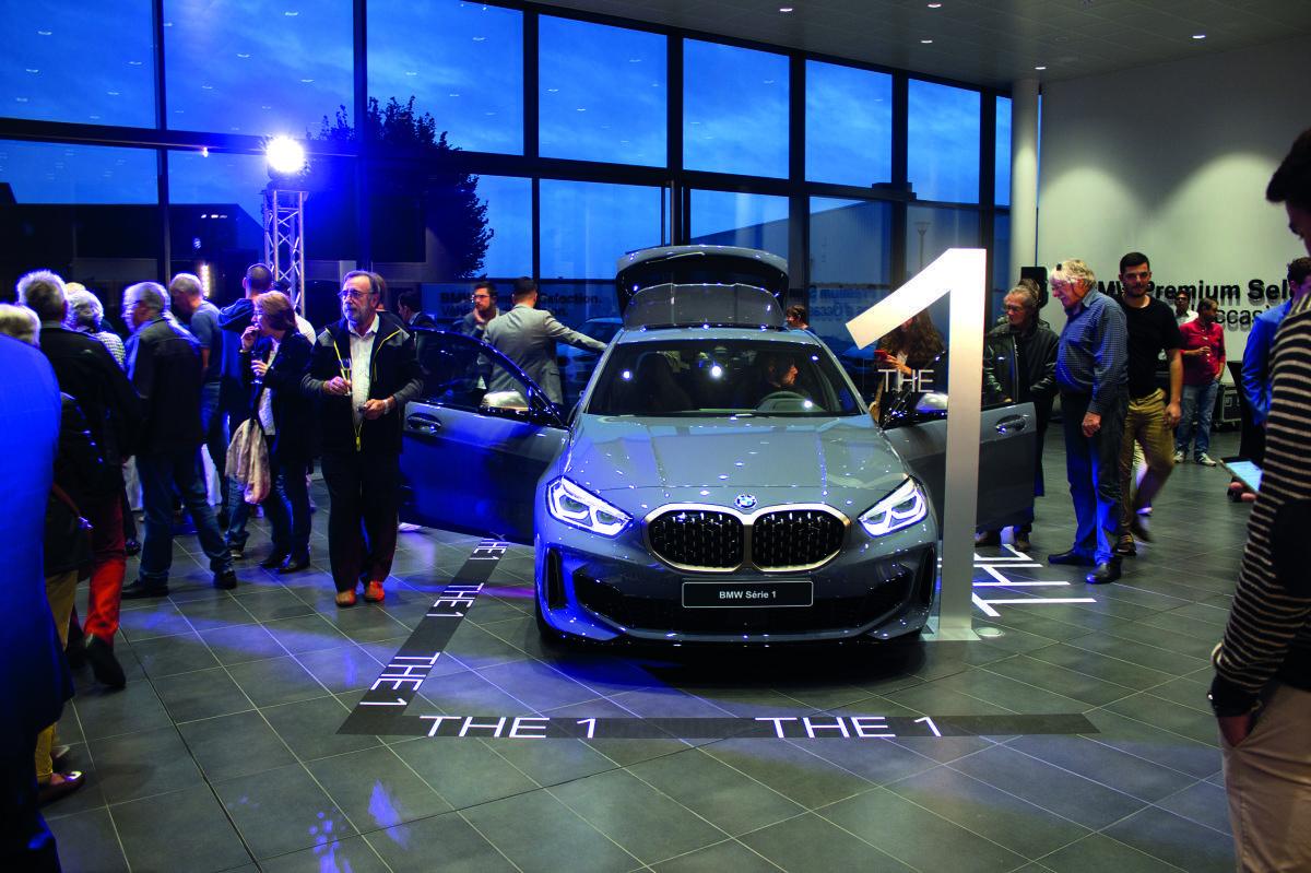 La Série 1 de BMW, présentée lors d'une soirée de lancement